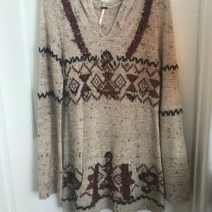 Free People Hooded Sweater, Never Worn